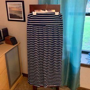Mossimo Striped Maxi Skirt